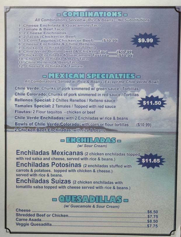 LCG menu combinations